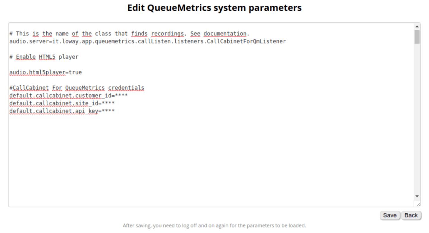 Queuemetrics System Parameters Call Recording