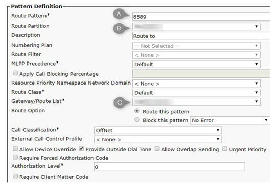 cucm pattern definition