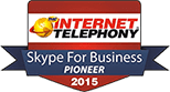 Image: CallCabinet receives 2015 Internet Telephony Skype for Business Pioneer Award