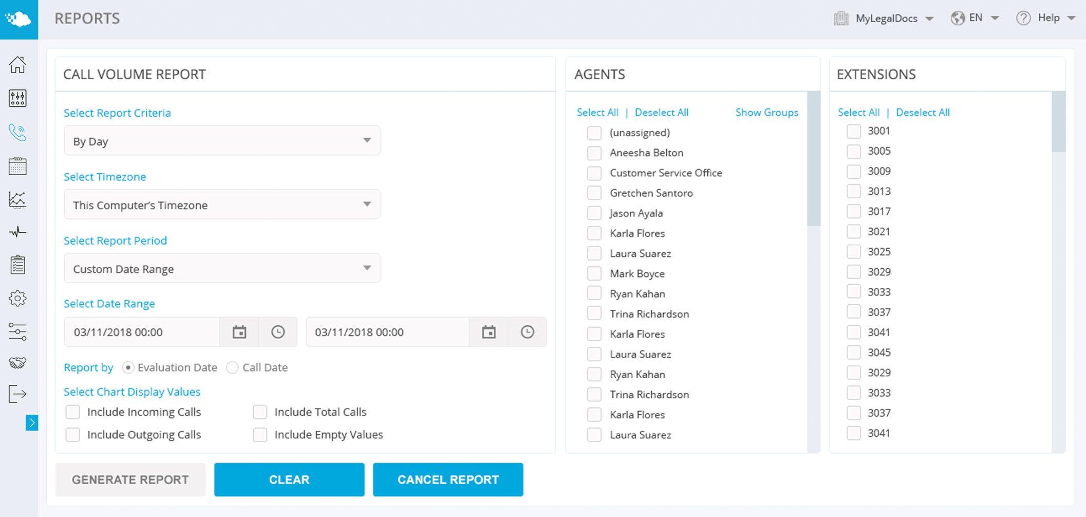 Screenshot of Atmos agent evaluation dashboard.