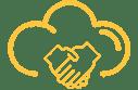 Flexible partnering options icon.
